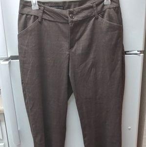 Lee curvy fit brown slacks